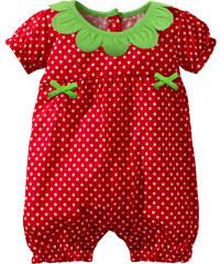 bpc bonprix collection Grenouillère bébé manches courtes en coton bio rouge enfant - bonprix