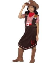 Smiffys Dětský kostým - hnědá kovbojka - 4 - 6 roků