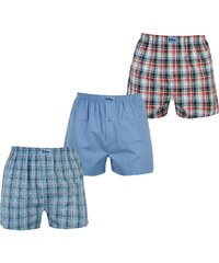 Boxerky Lee Cooper 3 Pack Woven Royal/Red