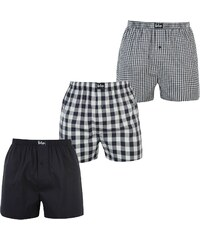 Boxerky Lee Cooper 3 Pack Woven Navy/White