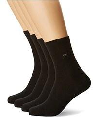 Calvin Klein Socks Damen Strick Socken Brooke, 4er Pack, 5 DEN, Gr. 36/41 (Herstellergröße: 37/41), Mehrfarbig (grey mel.-1,red-1