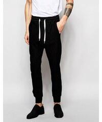 Black Eye Rags - Pantalon de jogging cintré et fuselé au niveau des chevilles - Noir