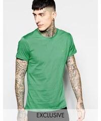 Farah - T-shirt ajusté avec logo F exclusivité ASOS - Vert