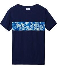 GANT Rugger T-shirt à Rayures Sur La Poitrine Porcelain - Vintage Blue