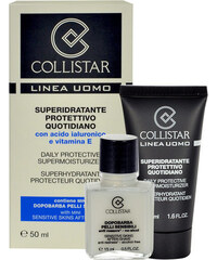 Collistar Men Daily Protective Supermoisturizer dárková sada M - 50ml Men Daily Protective Supermoisturizer + 15ml Sensitive Skin After-Shave