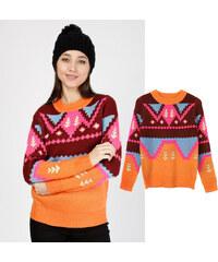 Lesara Pull en tricot avec imprimé ethnique