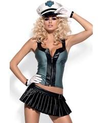 OBSESSIVE Dámský kostým Police skirty set