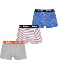 Boxerky Lee Cooper Three Pack Stripe Blu/Gry/Wht/Org