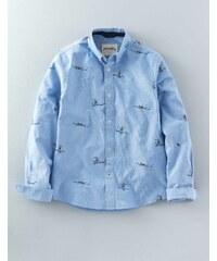 Gemustertes Hemd Hellblau Jungen Boden