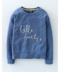 Sweatshirt mit Slogan Denim Damen Boden