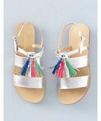 Sandalen mit Quasten Silber Mädchen Boden