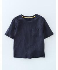 Superweiches kastiges T-Shirt Navy Damen Boden