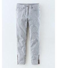 7/8-Jeans mit Reißverschluss Gestreift Damen Boden