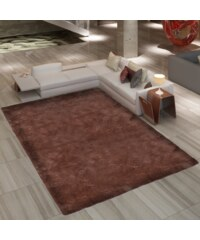 Velice kvalitní chlupatý hnědý koberec Shaggy 80x150cm