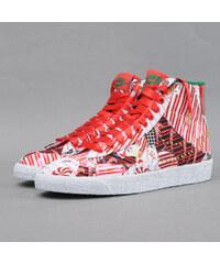 Nike WMNS Blazer Mid QS unvrsty rd / mtllc gld - pn grn - wh