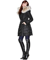 Guess by Marciano Kabát Gilmore Puffer Jacket with Faux-Fur Trim