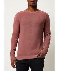 RI Růžový vzorovaný svetr