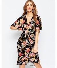 ASOS - Anschmiegsames Kimono-Midikleid - Mehrfarbig