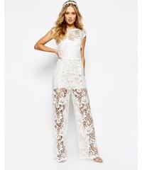 Body Frock - Bridal - Combinaison motif orchidées - Blanc
