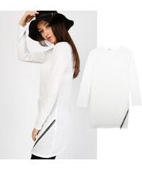 Lesara Longshirt mit Reißverschluss - S