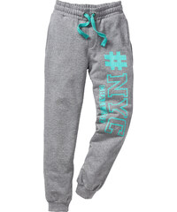 bpc bonprix collection Pantalon sweat imprimé cool, T. 116-170 gris enfant - bonprix