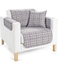 bpc living Jeté de fauteuil Karo gris maison - bonprix