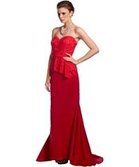 Dlouhé korzetové červené šaty APART (vel.40 skladem) 40 červená SKLADEM 2d9dff0eb7