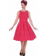 Dolly and Dotty retro šaty Annie s puntíky, červené