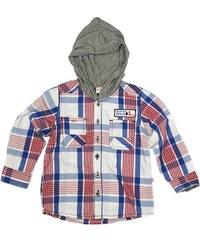 Tup-Tup Chlapecká kostkovaná košile s kapucí