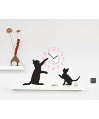 Clocker Samolepící designové hodiny Cats
