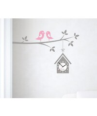 Clocker Samolepící designové hodiny Birdhouse