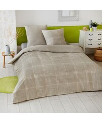Home Linen Parure housse de couette 100% coton - Fabre 240x220 cm + 2 taies d'oreiller 65x65 cm