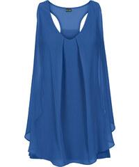 BODYFLIRT boutique Top à volant bleu femme - bonprix