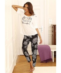 Lascana Pyjama im modernen -Design schwarz 32/34,36/38,40/42,44/46