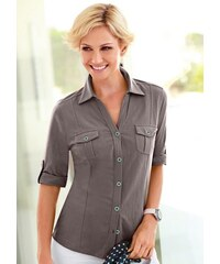 COLLECTION L. Damen Collection L. Jersey-Bluse braun 36,38,40,42,44,46,48,50,52,54