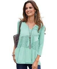 TOGETHER Damen Longshirt in trendiger Patchoptik grün 36,38,40,42,44,46,48,50,52