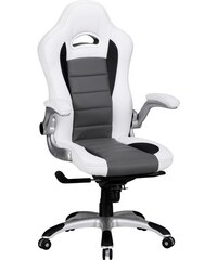 AMSTYLE Amstyle Chefsessel Racing weiß