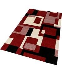 HOME AFFAIRE COLLECTION Schurwollteppich Zahra Höhe 11 mm handgearbeiteter Konturenschnitt rot 1 (B/L: 60x90 cm),2 (B/L: 70x140 cm),3 (B/L: 120x180 cm),4 (B/L: 160x230 cm),5 (B/L: 200x200 cm),6 (B/L: