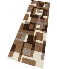 Schurwoll-Teppichläufer Zahra Höhe 11 mm handgearbeiteter Konturenschnitt HOME AFFAIRE COLLECTION braun 12 (B/L: 80x250 cm)
