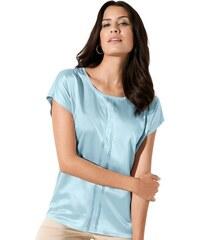 CRÉATION L Damen Crétaion L Shirt mit Steinchen und Pailletten blau 36,38,40,42,44,46,48,50,52