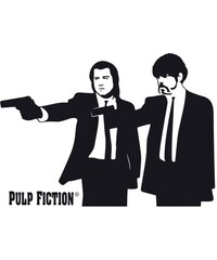 Wandtattoo Pulp Fiction - Silhouette Jules & Vince 100/71 cm HOME AFFAIRE schwarz