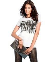 CRÉATION L Damen Création L Shirt mit kurzen transparenten Ärmel braun 38,42,44,46,48,50,52