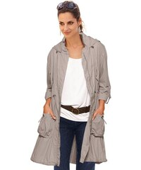 TOGETHER Damen Jacke mit gerafftem Umlegekragen braun 38,40,42,44,46,48,50,52