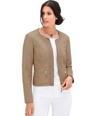 MAINPOL Damen Mainpol Blazer in moderner Form mit Rundhals-Ausschnitt braun 36,38,40,42,44,46,48,50,52