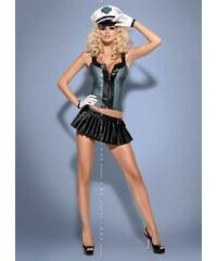 OBSESSIVE Sexy kostým Police skirty set - Obssesive