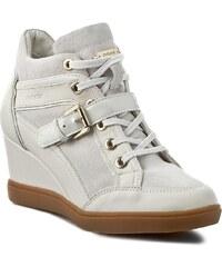 Sneakersy GEOX - D Eleni C D6267C 02285 C1002 Szary Biały