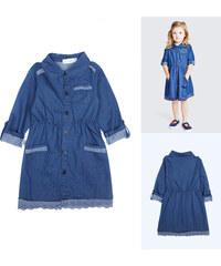 Lesara Kleid in Jeans-Optik - Blau - 74