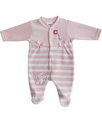 Schnizler Baby - Mädchen Schlafstrampler Nicki Schlafanzug Kätzchen Gestreift