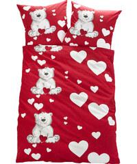 bpc living Linge de lit Nounours, jersey rouge enfant - bonprix