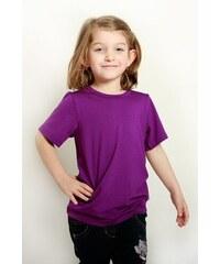 Dětské bambusové tričko krátký rukáv (fialová)